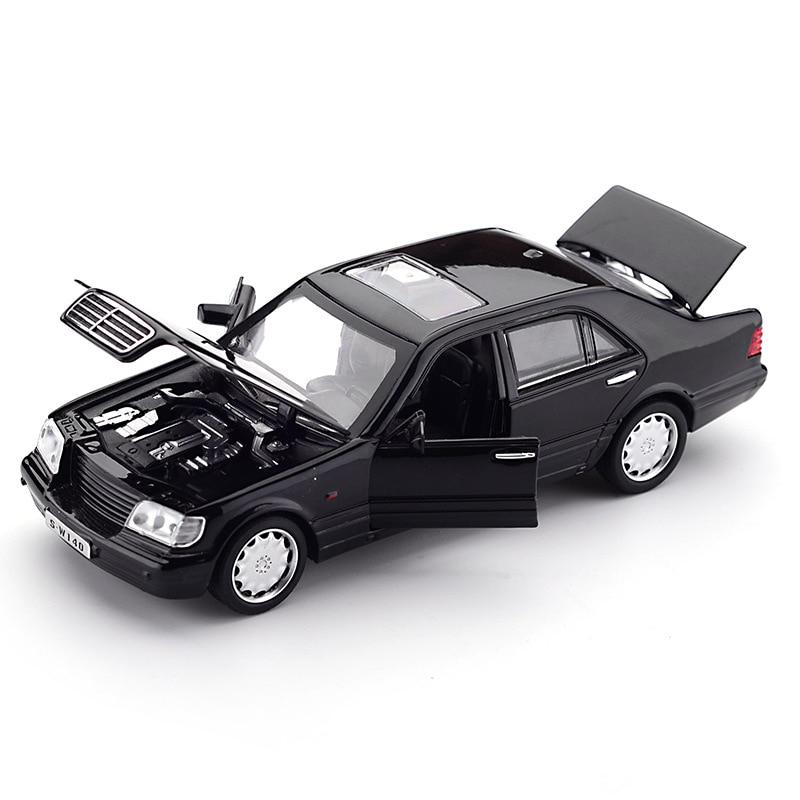 Zhenwei W140 1:32 Alloy Model Car Sound Light Pull-back Light Sound Alloy Vehicle Model Toys for Chi