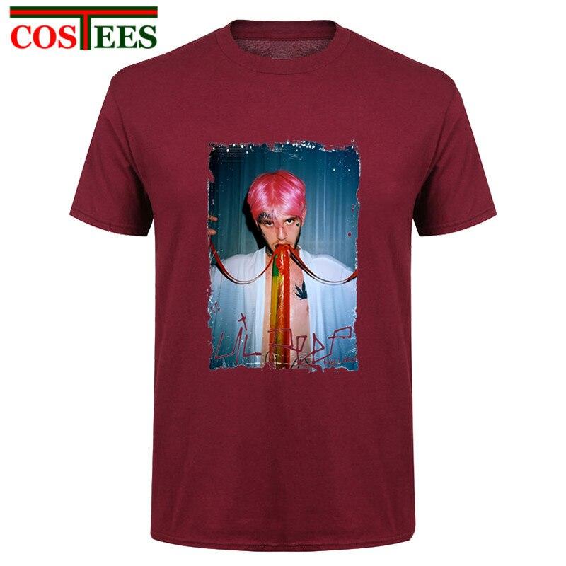 Carácter específico Lil peep T camisas hombres lil peep digitales de hombres camiseta RIP cantante de Rap homme sudaderas de hip hop lil peep camiseta Lil peep