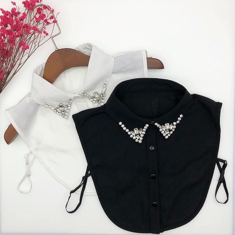 Linbaiway Women Handmade Shirt Fake Collar Blouse Tops Sweater Detachable Collars Female False Collar Necklace Nep Kraagie