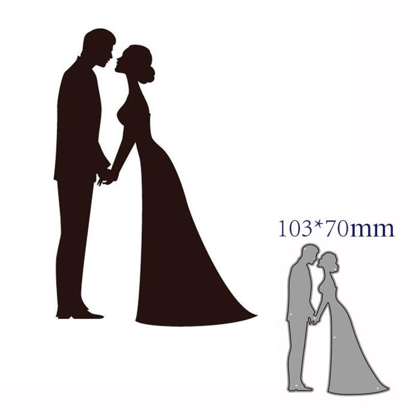 Troqueles de corte de metal Plantilla de corte decoración de amor de boda manualidades de papel de álbum de recortes cuchillo molde de cuchilla perforadora de plantillas troqueles