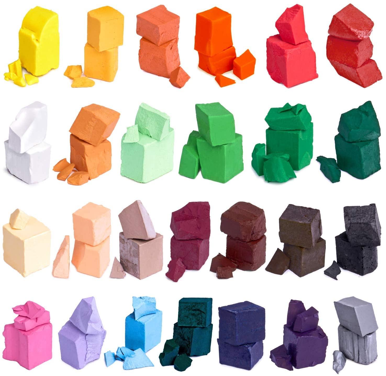 Воск-краска для свечей, 34 Цвета, отличный выбор цветов, чипсы для свечей, восковые хлопья, Набор для изготовления соевых свечей «сделай сам»