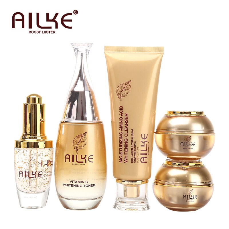 AILKE مستحضرات التجميل جهاز العناية بالوجه مجموعات ترطيب تبييض النوم النساء الجمال كريم للتجاعيد منتجات الوجه الإناث بالجملة