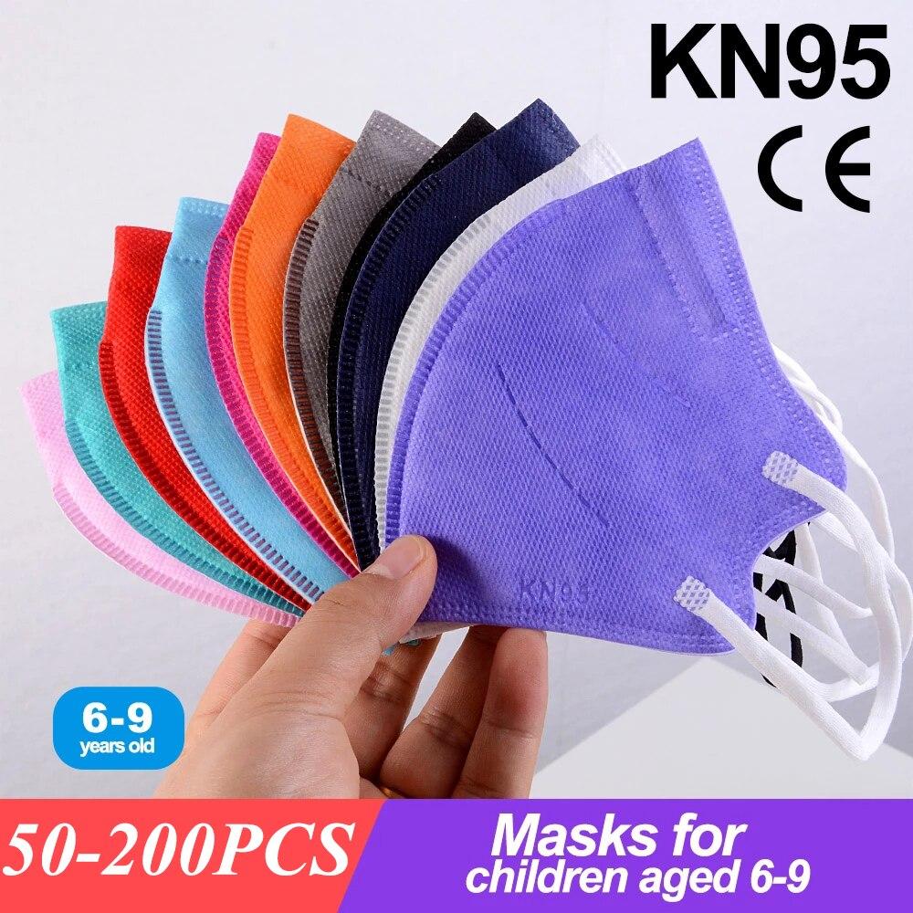 50-200pcs N95 Mask for Kids kn95mask mouth caps Boys Girls Mascarillas FPP2 KN95 face masks infantil