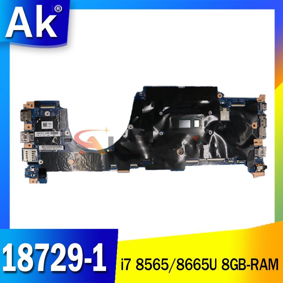 لينوفو ثينك باد X390 اليوغا اللوحة الأم للكمبيوتر المحمول 18729-1 448.0G105.0011 مع i7 8565/8665U CPU 8GB-RAM اختبار 100% العمل
