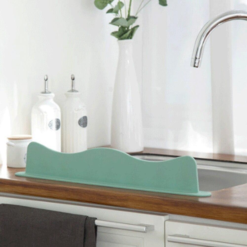 Dissipador de Respingo Placa do Banheiro Guarda Água Splashproof Casa Onda Ferramenta Cozinha Silicone Vegetal Lavagem Portátil Ventosa Bacia