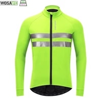 wosawe cycling jacket man winter thermal windproof mountain bike jacket sports coat snowboarding clothes water repellent