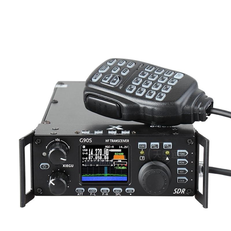 Xiegu G90 HF جهاز إرسال واستقبال لاسلكي للهواة 20 واط SSB/CW/AM/FM 0.5-30 ميجاهرتز هيكل SDR مع موالف هوائي تلقائي مدمج