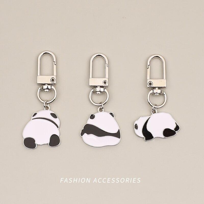 Cute Panda Diy Keychain Kawaii Airpods Anime Key Chain Accessories Pendant For Clothes Backpack KeyR