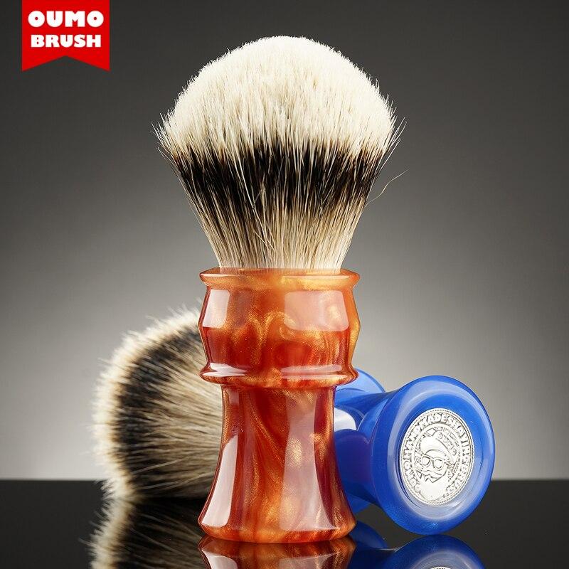 OUMO BRUSH - OUMO classic big hand  FIRE shaving brush with Manchuria/ACE/SILK/HOOK/WT