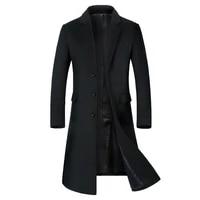 coats for mena long jacket below the kneemens overcoatmens coat windbreakermen coatswool coat men wool content 51