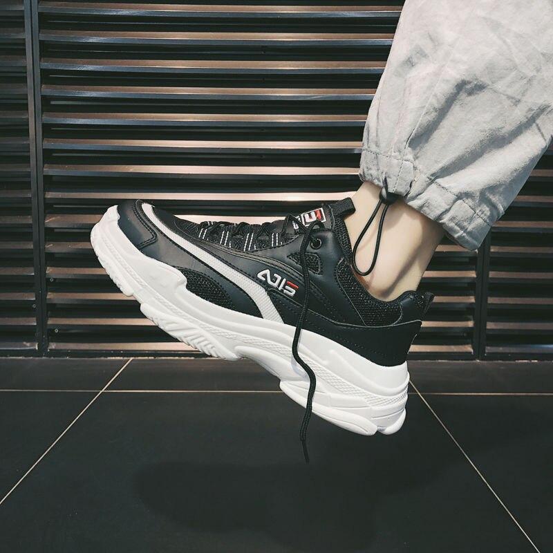 Tênis de plataforma de malha respirável dos homens das mulheres sapatos esportivos casuais do sexo masculino estudante macio grosso tênis caminhada jogging tenis feminino