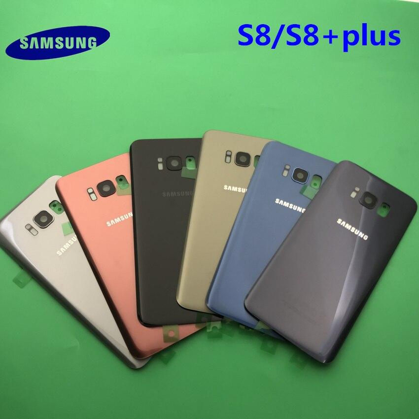 Задняя крышка батареи чехол Samsung Galaxy S8 G950 G950F S8 + plus G955 G955F задняя дверь корпус стеклянная панель Запасная часть