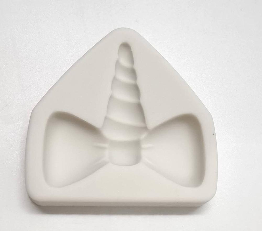 Pastel herramienta 2 pulgadas unicornio caballo oído molde de silicona arco Sugarcraft, Chocolate fondant de sugarcraft molde