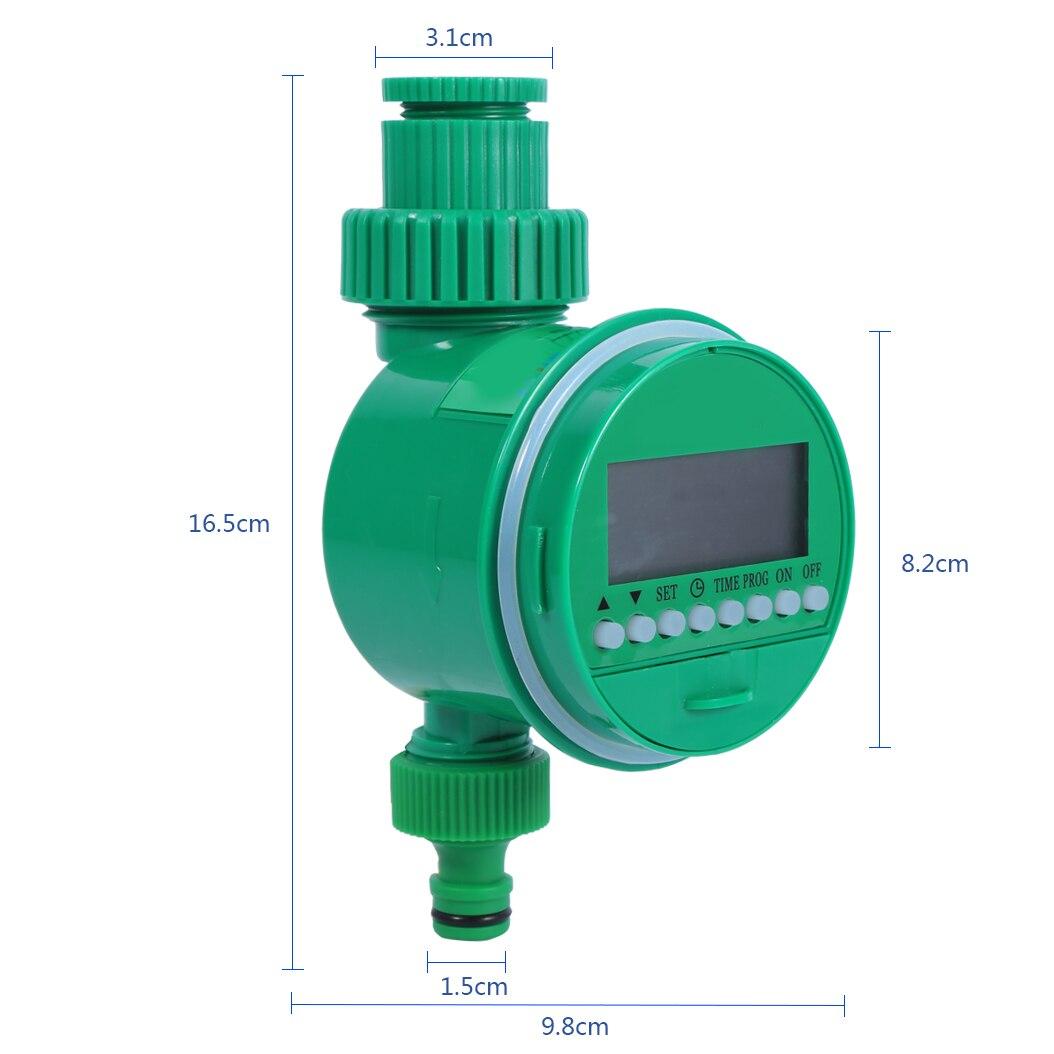 Automatische Garten Bewässerung Bewässerung Controller Timer LCD Display Ball Ventil Mit Einstellbare Tropf Controller System Hause