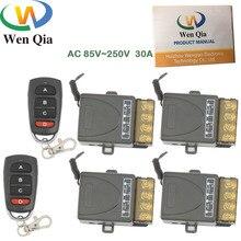 AC 75 ~ 250V 30A 6600W 1CH 4 gang 433 Mhz дистанционный переключатель, релейный модуль приемника высокой мощности для светильник электрической двери