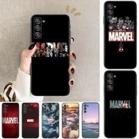 marvel logo avengers phone cover hull for samsung galaxy s8 s9 s10e s20 s21 s5 s30 plus s20 fe 5g lite ultra black soft case