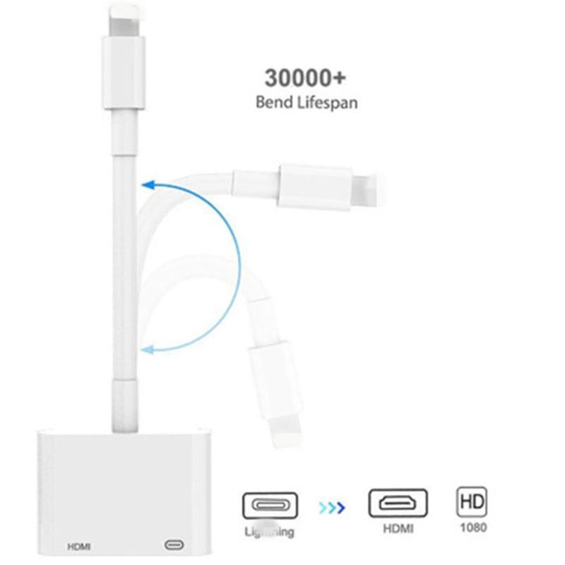 Lightning To HDMI Adapter TV 1080P HD Digital AV adapter Converter for iPhone iPad to TV Same Screen