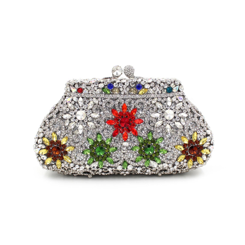Bolsos De Mujer de último diseño, bolsos de mano de noche con diamantes de imitación, bolsos de boda, bolsas de lujo para mujer, bolsas de embrague de caja, monedero