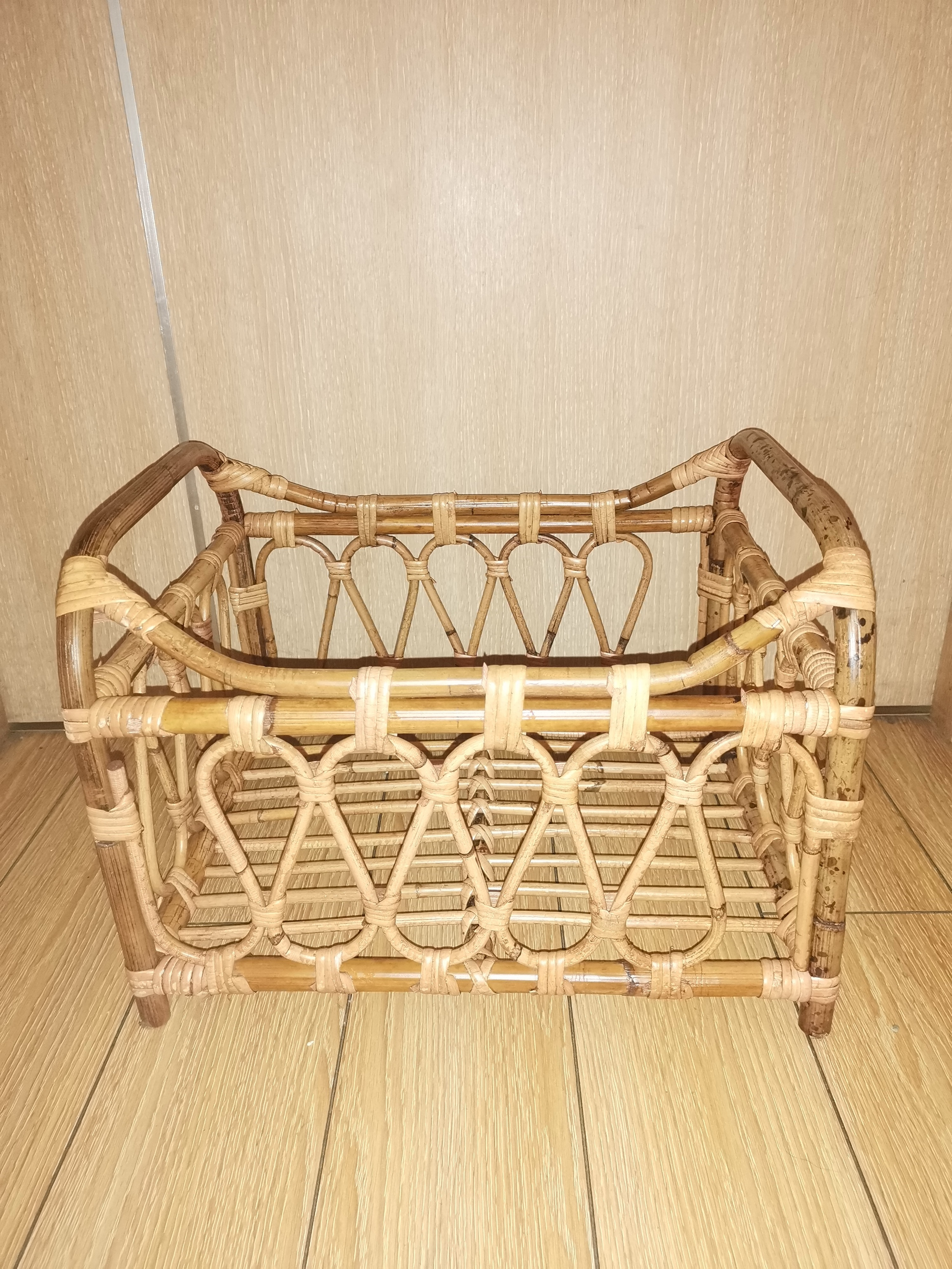 Baby Props Vintage Woven Rattan Basket Newborn 100 Days Photography Props Baskets Baby Posing Sofa Bed Accessoire Shooting Props