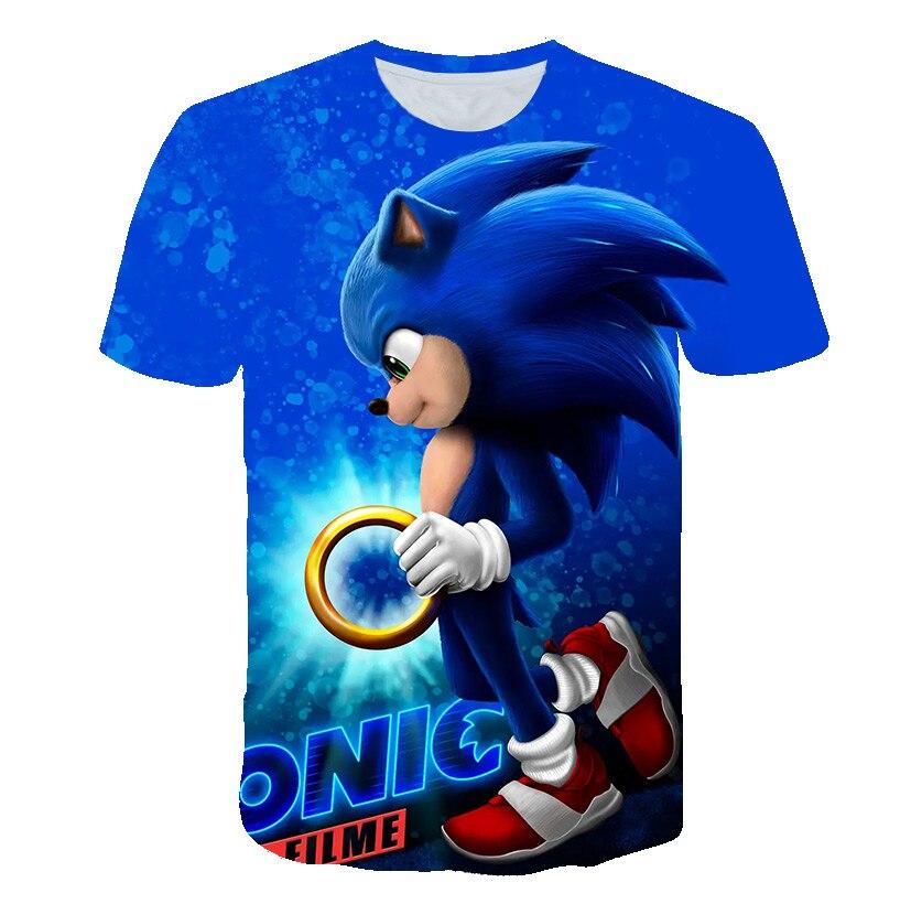 Sonic T Shirts Kids Clothes Boys Tshirts Children T-shirt Girls Shirts Summer Short Sleeve clothes G