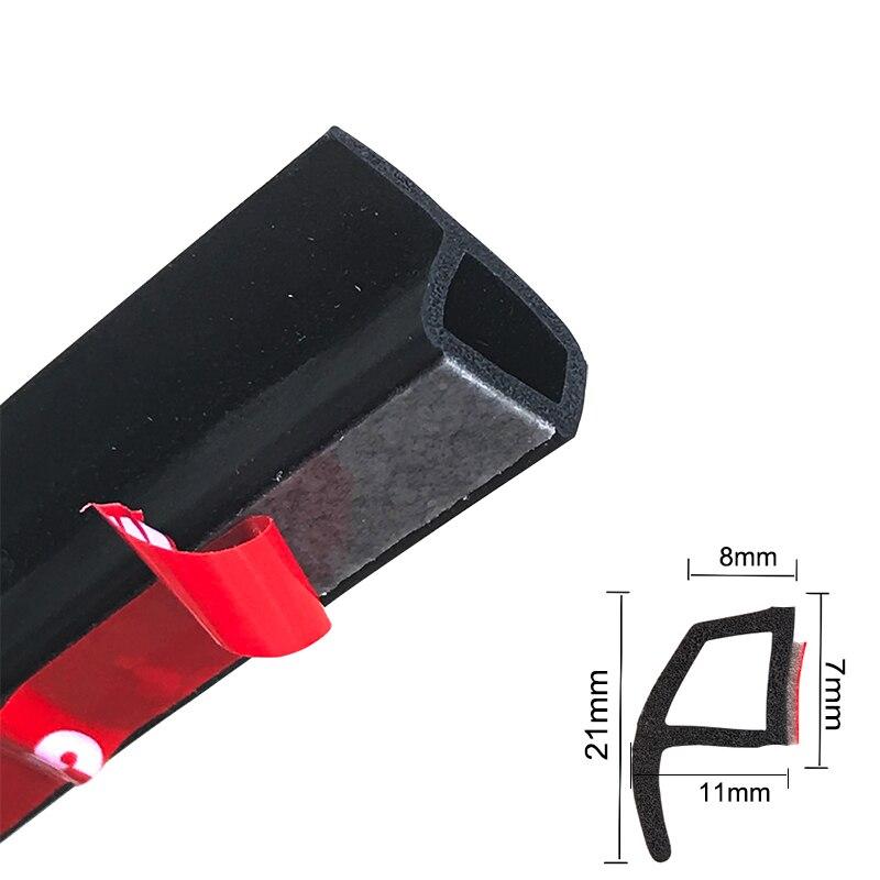 2meter P Typ Auto Tür Gummi Dicht Streifen Weathers Rand Trim Noise Isolierung шумоизоляция для автомобиля