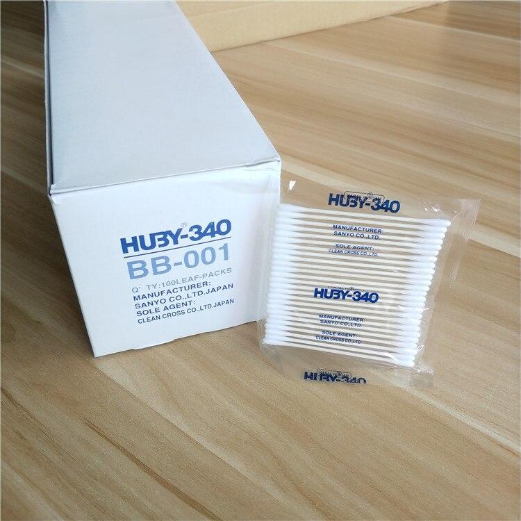 100 мешков/коробка SANYO HU3Y-340 антистатические ватные тампоны без пыли BB-003 промышленные iqos электронные сигареты очистка ватных тампонов