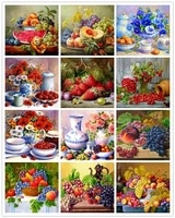 diy diamond painting fruit full drill squareround embroidery flower raspberry pictures mosaic cross stitch kit home decoration