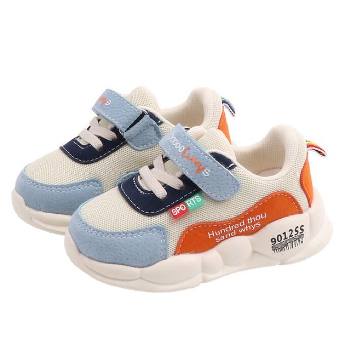 2019 nuevos zapatos de lona para niños niñas estrella malla transpirable deporte...
