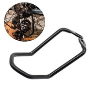 mtb bicycle chain gear guard protector cover rear derailleur hanger iron frame durable double wings hole bracket bike accessorie