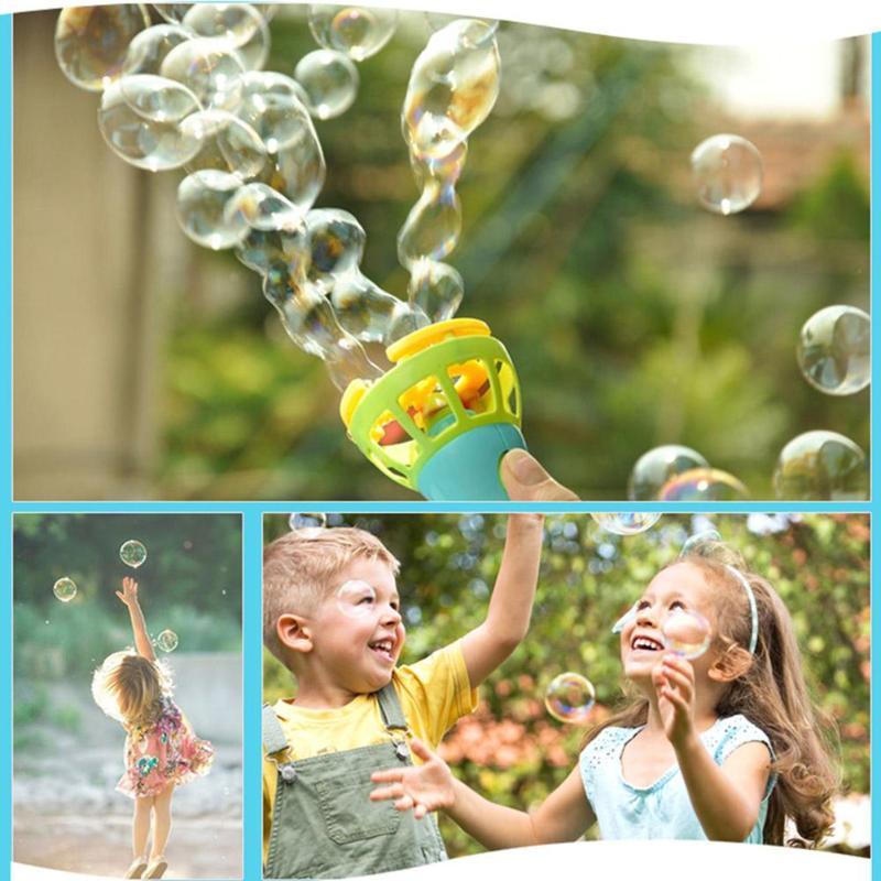 Bubble Blower Machine Toy Water Bubble Blower Gun Summer Funny Bubble Soap Maker Mini Fan Kids Outdoor Toy Gift For Kids