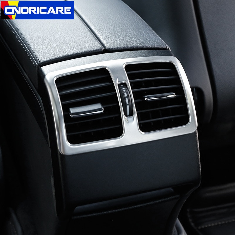 Marco decorativo de ventilación de aire acondicionado trasero para Mercedes Benz Clase E Coupe 2009-2016 pegatinas de ajuste de salida Interior