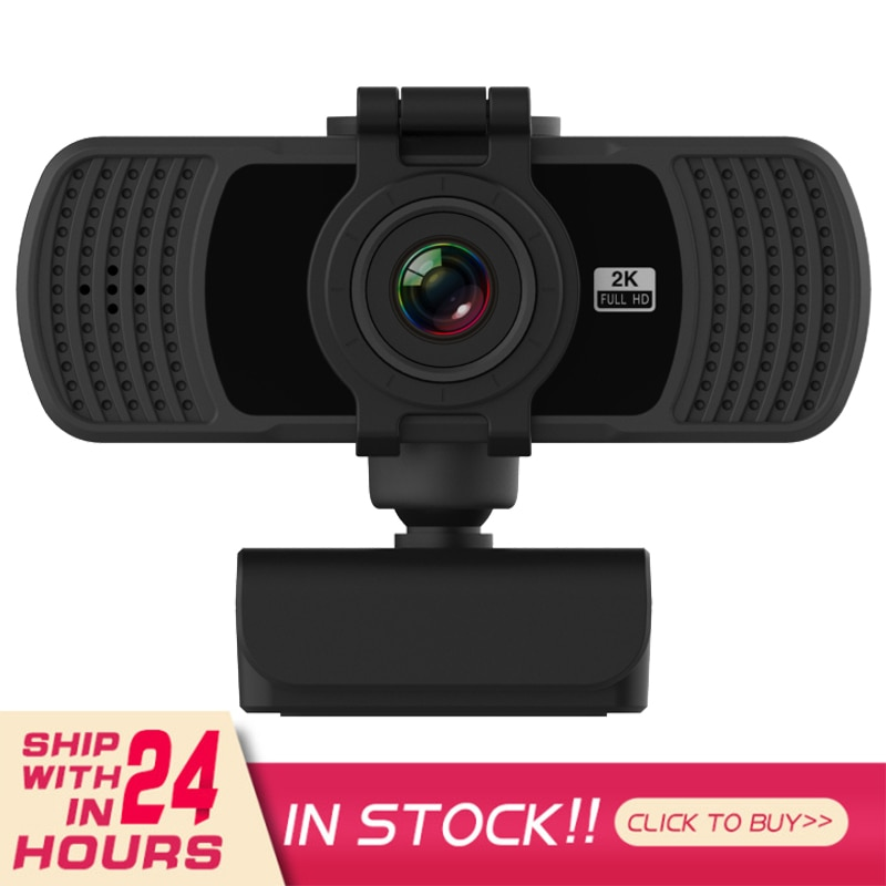 2K Fixed Focus HD Webcam Built-in Microphone PC Laptop Computer Web Camera For Live Broadcast Video Calling Conference Work
