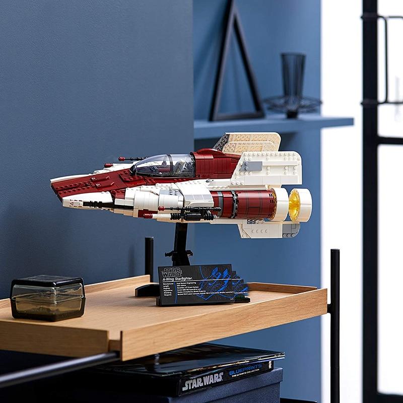 Moc 75275 Star الفيلم كتلة بناء مقاتلة النجوم الجناح UCS ينطبق فقط على L مجموعة إضاءة الأطفال لعبة هدية