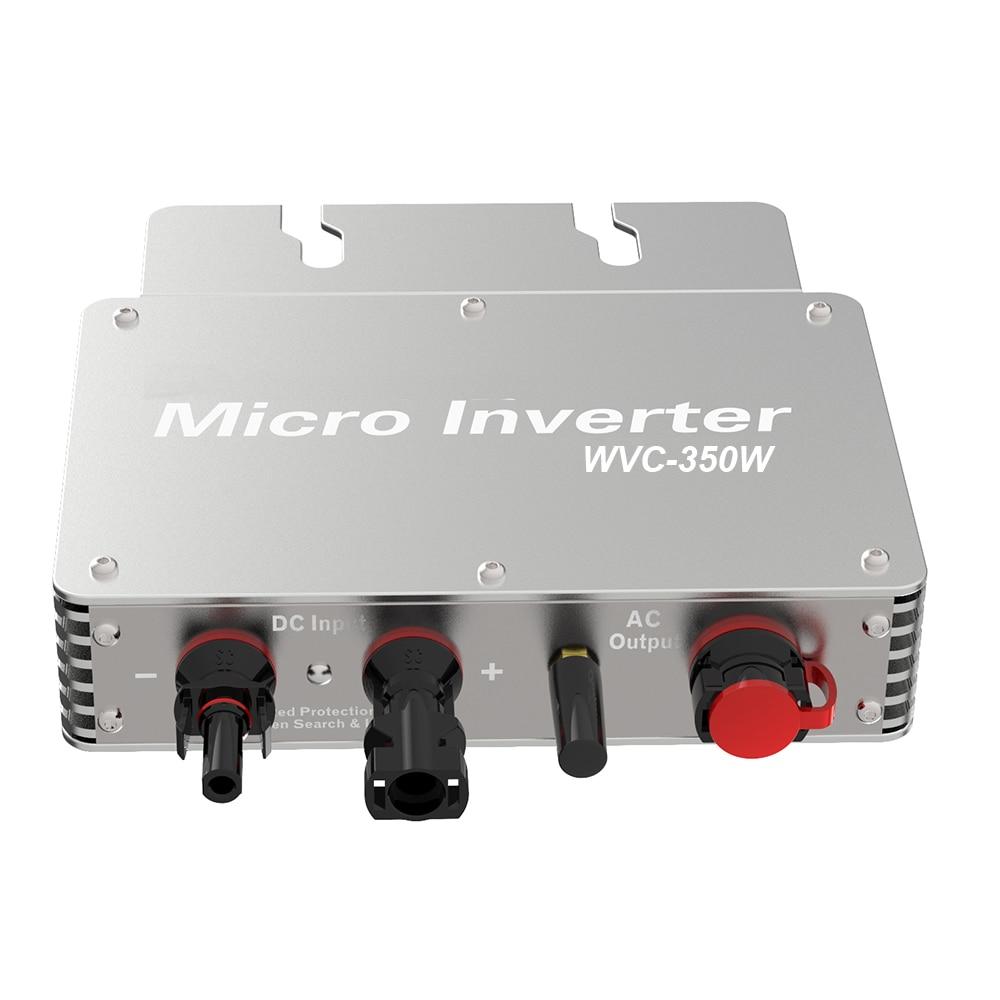 WVC350 350 واط 36 فولت microالعاكس MPPT PV الطاقة الشمسية على محوّل ربط شبكي Ip65 منظم الناتج 110 فولت 220 فولت موجة جيبية نقية للوحة