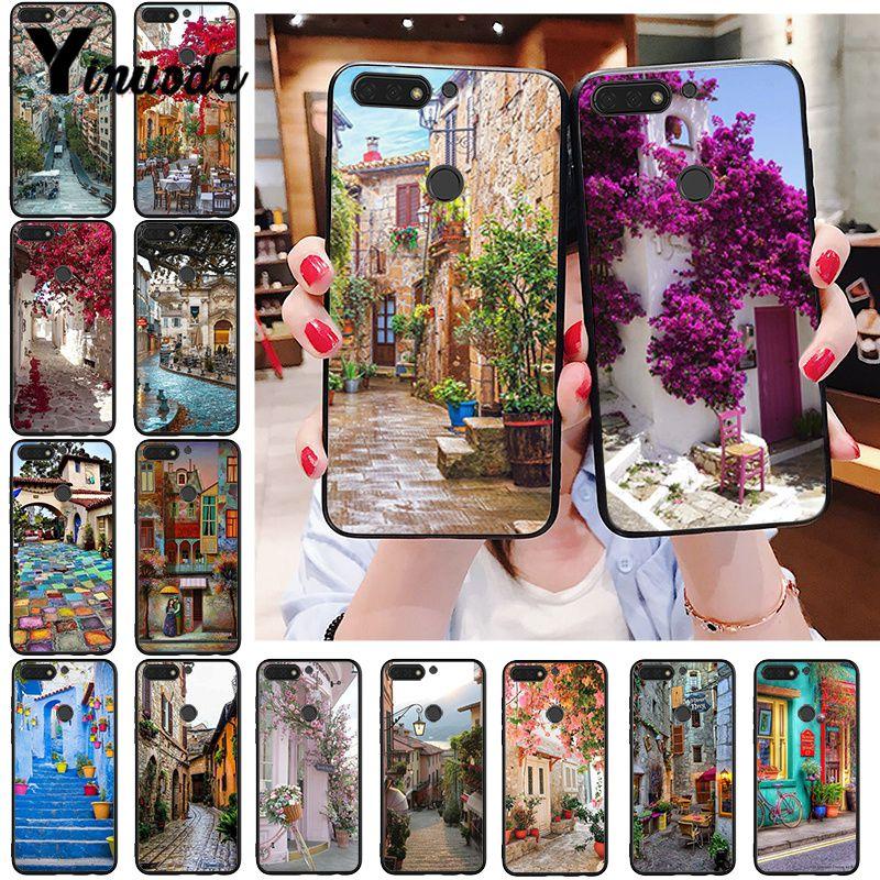 Yinuoda travel italy Francia Londres hermosa flor mundo lugares teléfono funda para Huawei Honor 8A 8X9 10 20 Lite 7A 7C 10i 20i