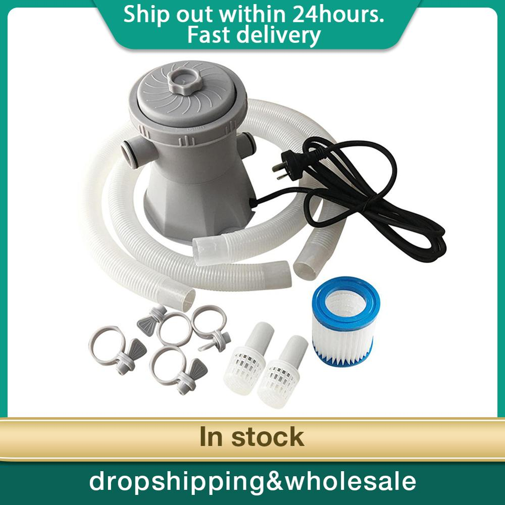 220V Electric Pool Filter Pump For Swimming Pools Cleaning Tool Filter Set For Swimming Pool Circulation Filter Pump Water Pump