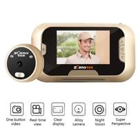 2 8 inch color screen digital door peephole viewer home security doorbell 120 degree night vision door bell peephole door camera