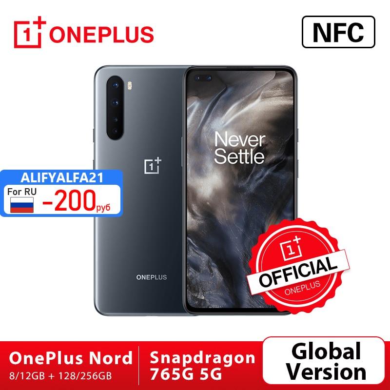 OnePlus Nord 5G Smartphone version mondiale OnePlus Official Store, Snapdragon, 765 G, 8 Go, 128 Go, 6,44 pouces, 90Hz AMOLED écran 48 MP, Quad Cams charge de distorsion 30T; code:FRFEB8(€80-8);FRFEB12(€100-12);FRFEB20