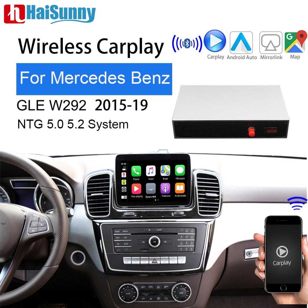 Carplay لاسلكي لمرسيدس GLE ، متوافق مع NTG 2015 ، شاشة Android ، mirrorlink ، IOS 13 ، كاميرا الرؤية الخلفية ، لسيارة Mercedes GLE W166 ، W167 (2019-5.0)