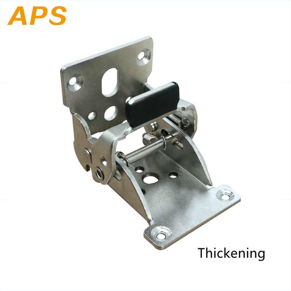 1 Uds. Estructura de bisagra de soporte autoblocante pata de la mesa plegable accesorios y fuelle-para patas plegables banco de trabajo plegable