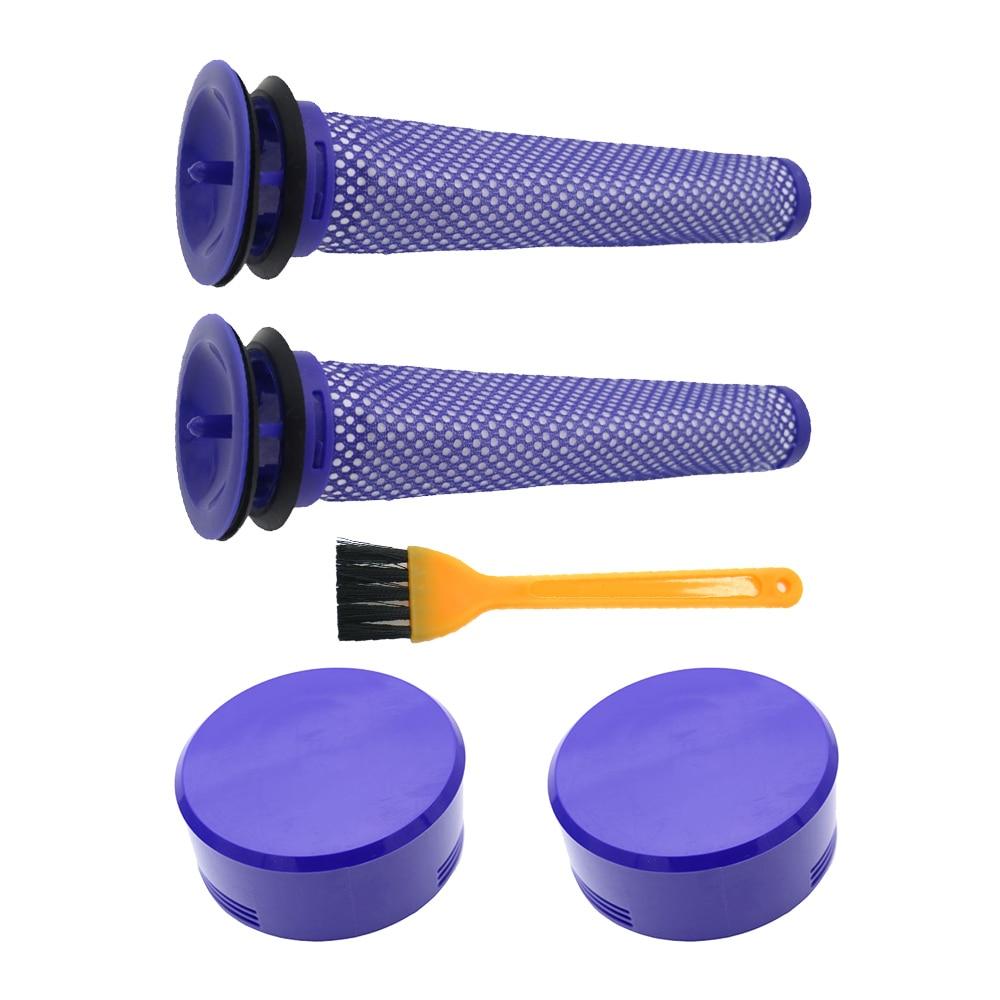 2 упаковки предфильтров и 2 упаковки HEPA пост-замена фильтров совместимы с Dyson V8 и V7 беспроводные Пылесосы