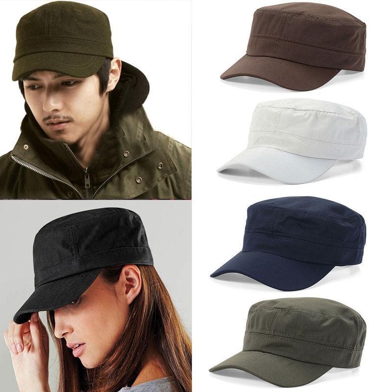 Gorra clásica de algodón ajustable estilo cadete militar