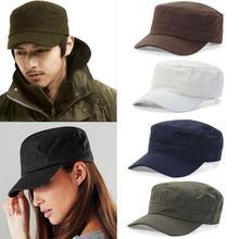 Regulowany klasyczny zwykły czapka Vintage wojskowy styl kadetu bawełniany kapelusz