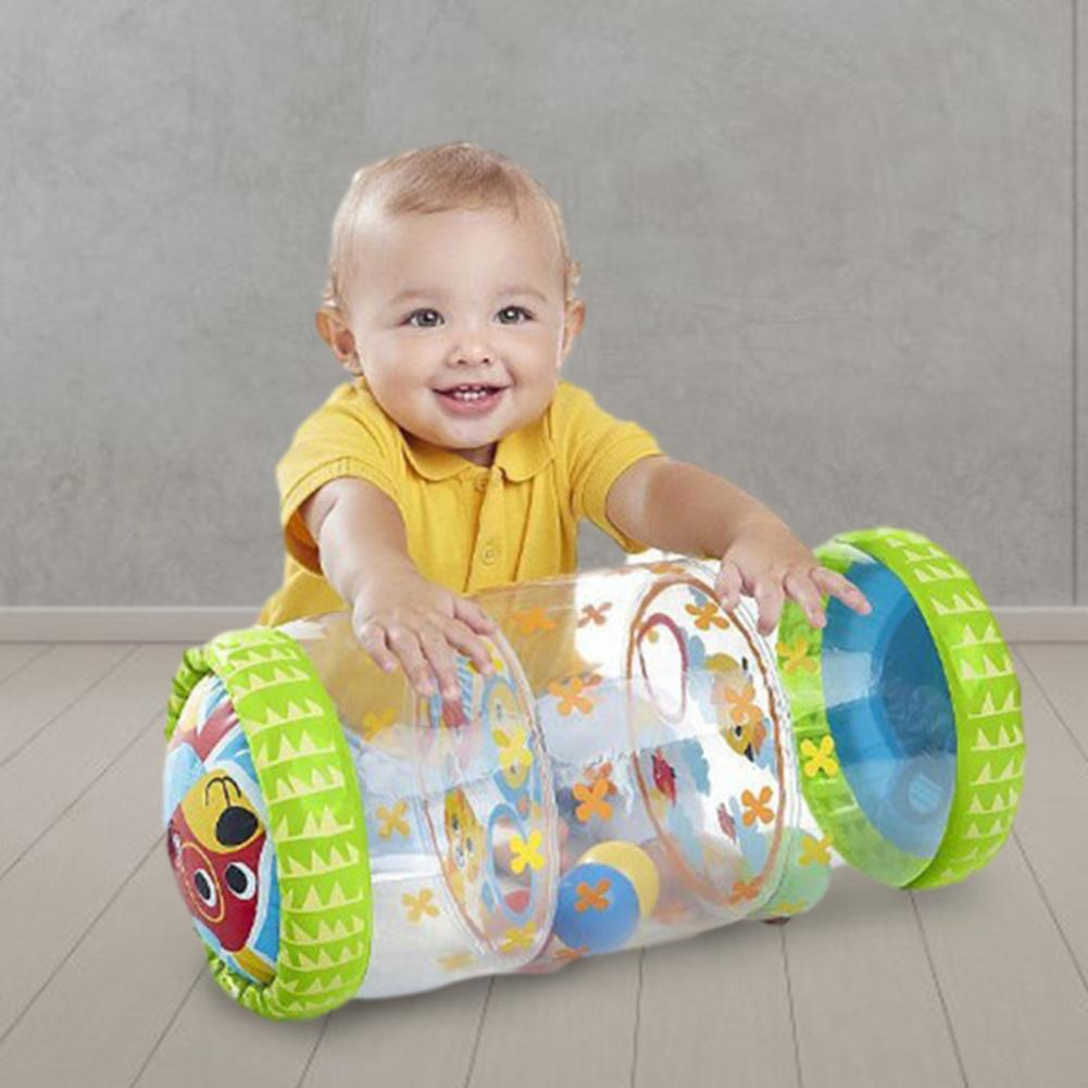 New Crawling Inflatable Roller Toy Infants PVC Fidget Toys With Bells Toddler Standing Early Education