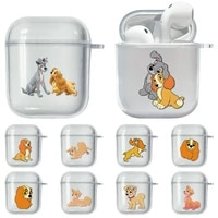 disney lady and the tramp soft case for airpods 2 1 earphone funda clear transparent tpu protective bluetooth wireless