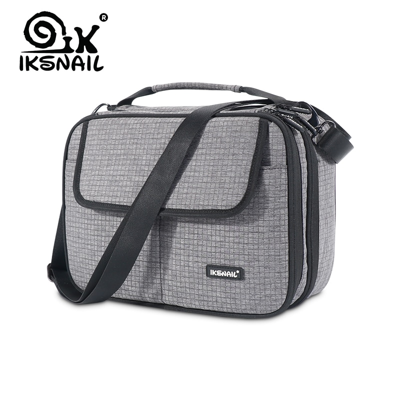 Bolsa de hombro impermeable de tela de EVA de IKSNAIL iPad organizador de Cable de datos USB auricular banco de energía de viaje bolsas de Gadget digitales
