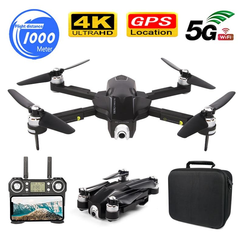 GPS Sígueme WIFI FPV Quadcopter con cámara ESC HD sin escobillas Drone plegable 4K Cámara Dual Video 1000M 30 minutos vuelo RC Dron