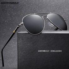 Luxury Men's Polarized Sunglasses Driving Sun Glasses For Men Women Brand Designer Male Vintage Blac