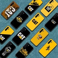 cat caterpillar phone case for huawei p mate 10 20 30 40 pro lite smart 2019 2021 black cover painting etui fashion cell