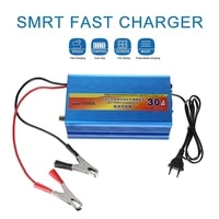 full automatic car battery charger ac 180v 250v 30a fast charging battery chargers with batteries clamp connectors